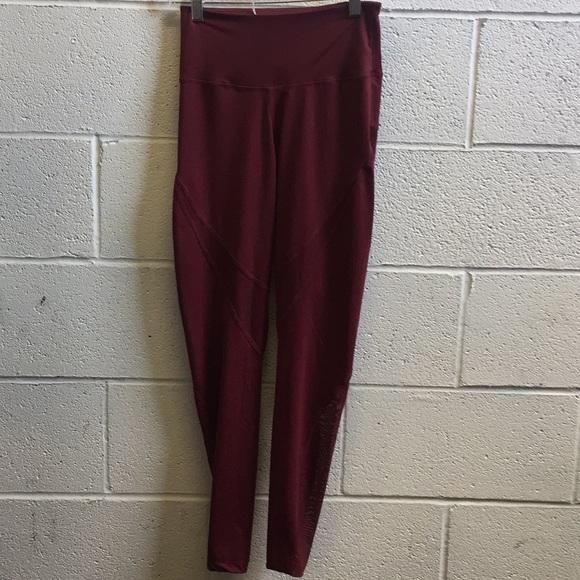 f468b6b437f645 varley Pants | Burgundy Legging Sz S 58616 | Poshmark